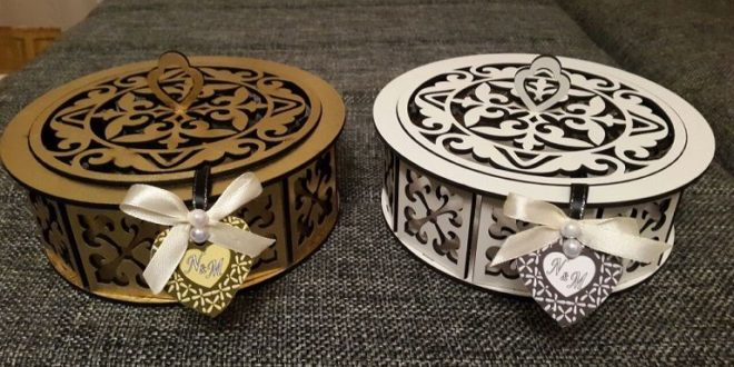 Laser Cut Design Round Box Free CDR Vectors Art