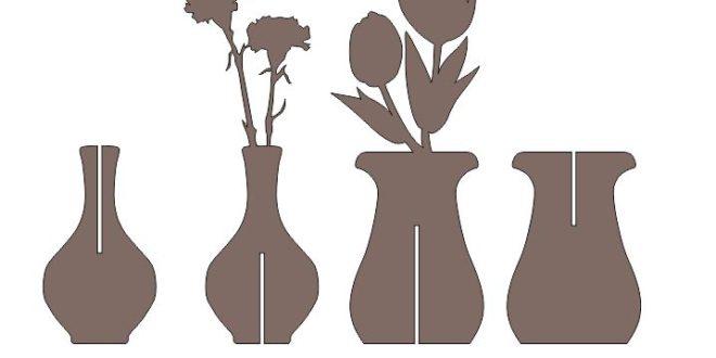 Cnc Cut Flower Pot Free DXF File