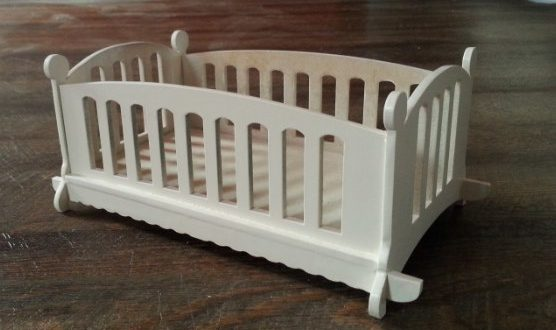 Doll Bed Laser Cut Free DXF File