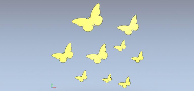 Farfalle Borboletas бабочки метелики Butterflies Free DXF File