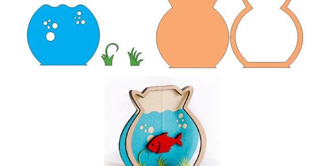 Fish In Aquarium Laser Cnc Cut Free DXF File