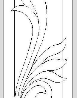Floral Door Cnc Model Free DXF File