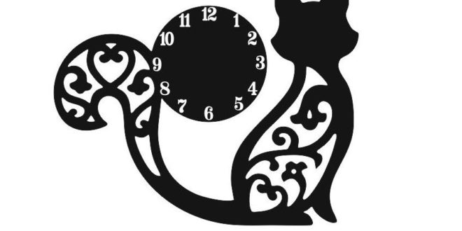 Laser Cnc Cut Watches With A Sculpted Kitten Free DXF File