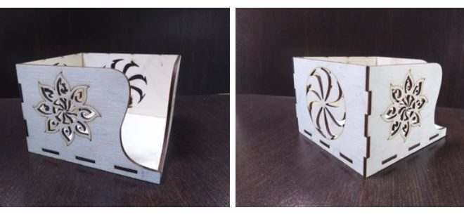 Laser Cut Cnc Napkin Holder 55 Free DXF File