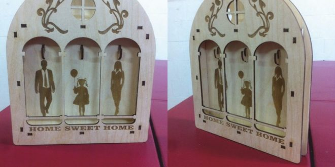 Laser Cut Family Keychains Free DXF File