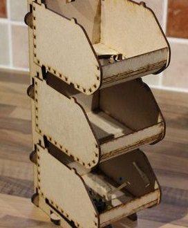 Laser Cut Plan Organizer Wood Cutting Free DXF File