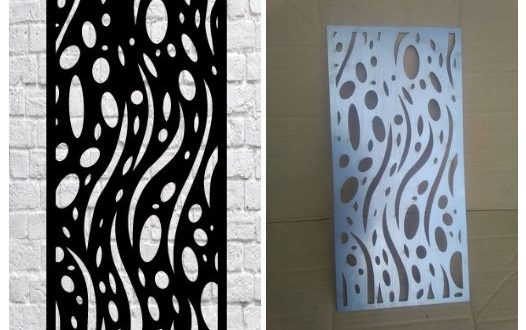 Laser Cut Template Grid Panel Free DXF File