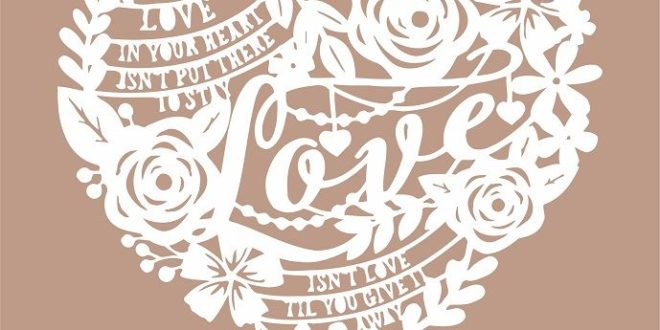 Love Paper Cut Silhouette Svg Free DXF File