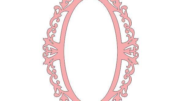 Monogram Frame Mirror 2 Free DXF File
