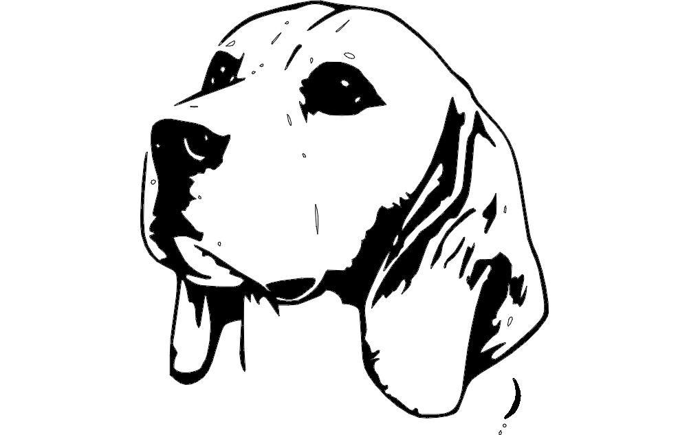 Beagle head 3 Free DXF File