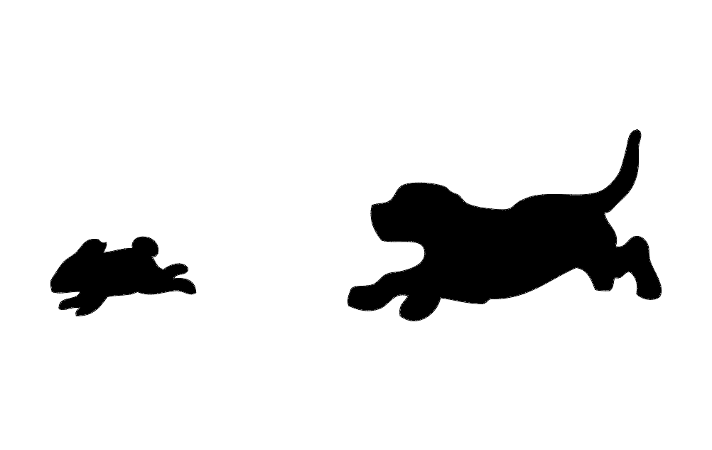 Beagle after Rabbit Free DXF File