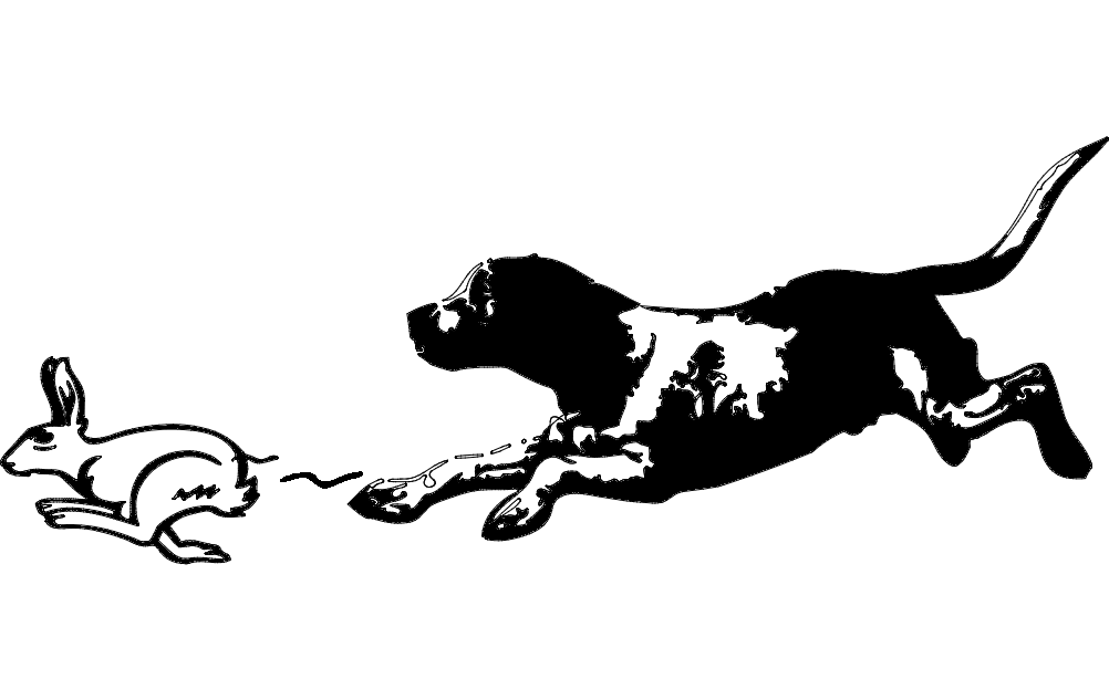 Beagle and Rabbit Free DXF File