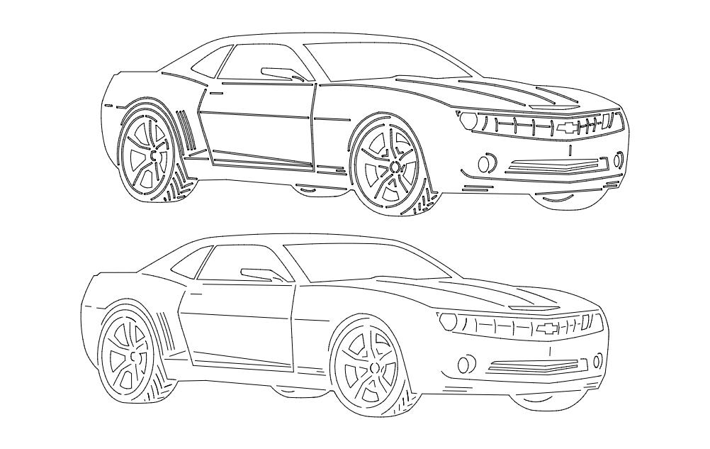 Car 6 Free DXF File