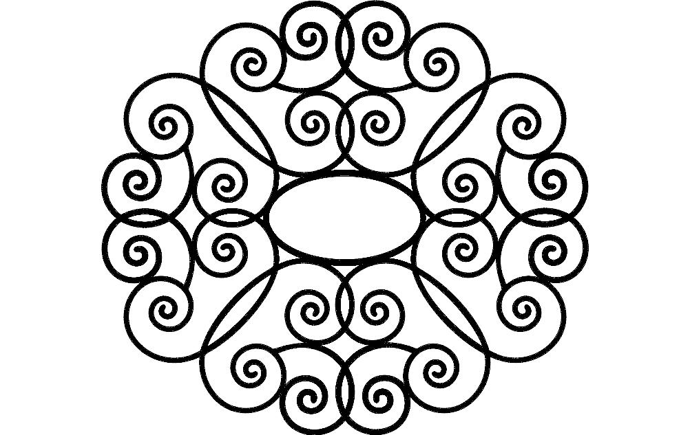 Decorative Design Free DXF File