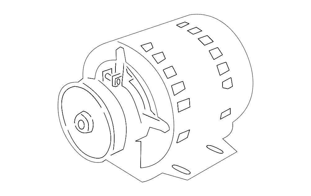 Electric Motor Free DXF File