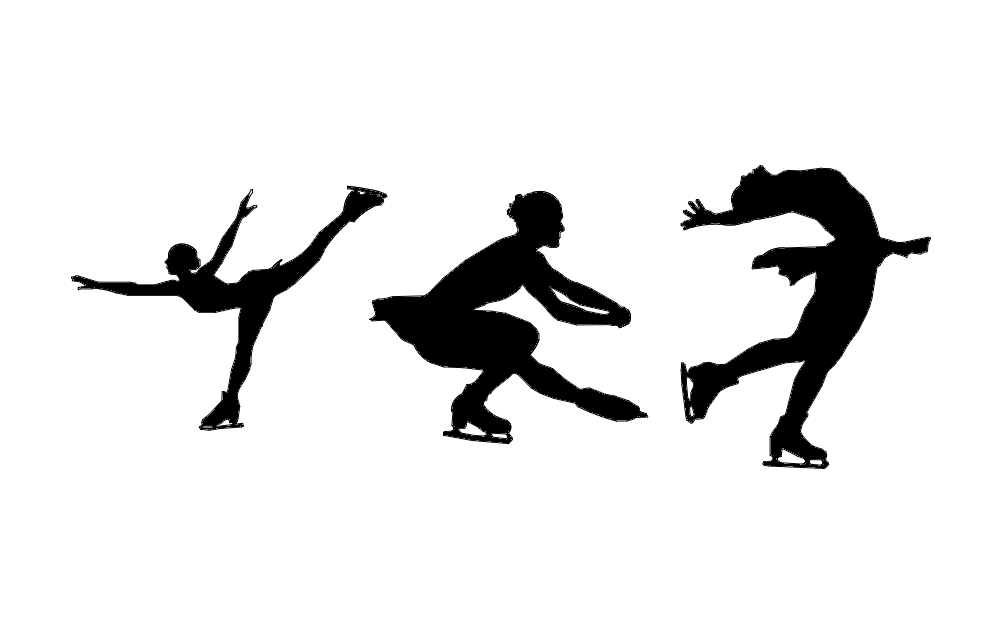 Figure Skaters Free DXF File