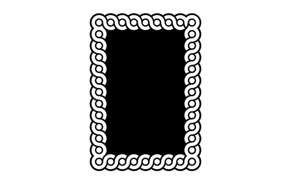 Guilloche Interlaced Band Patterns Free DXF File