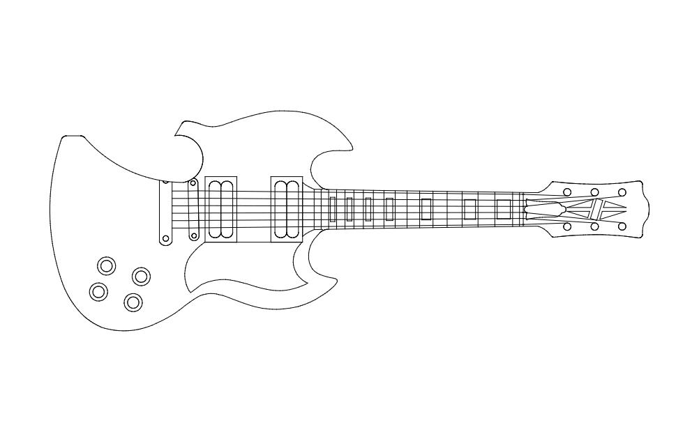 Guitar Opener Free DXF File