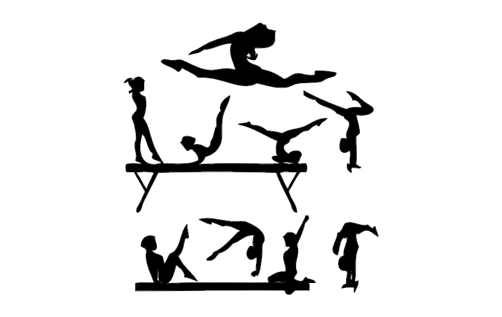 Gym Silhouette Free DXF File