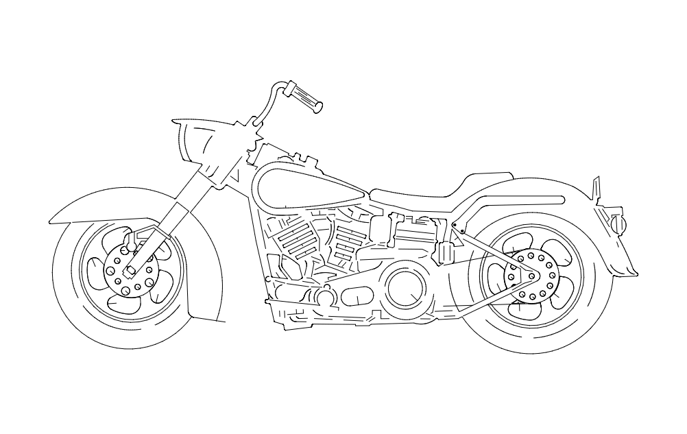 Harley 3s Free DXF File