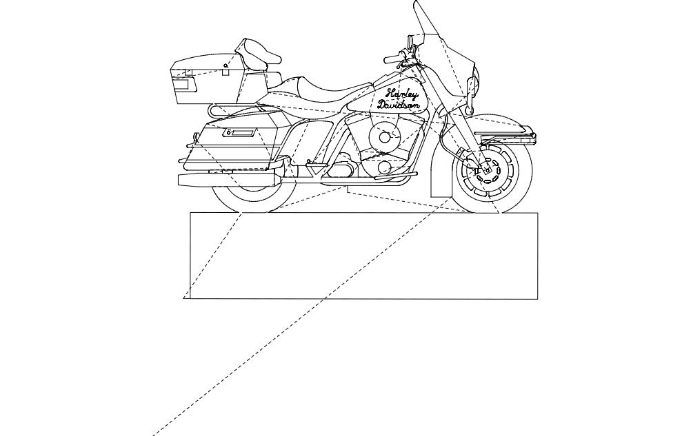 Harley Davidson Profile Free DXF File