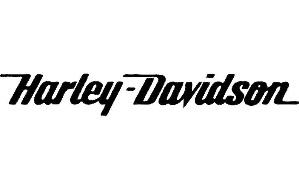 Harley Script Free DXF File