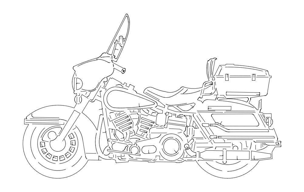 Harley Free DXF File