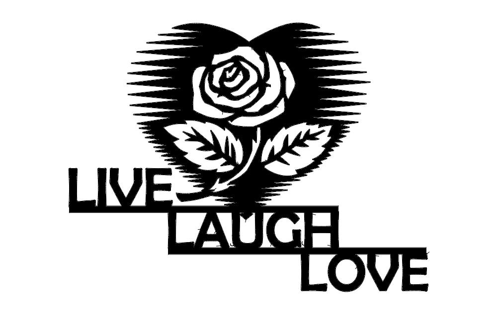 Live Laugh Love Art Free DXF File
