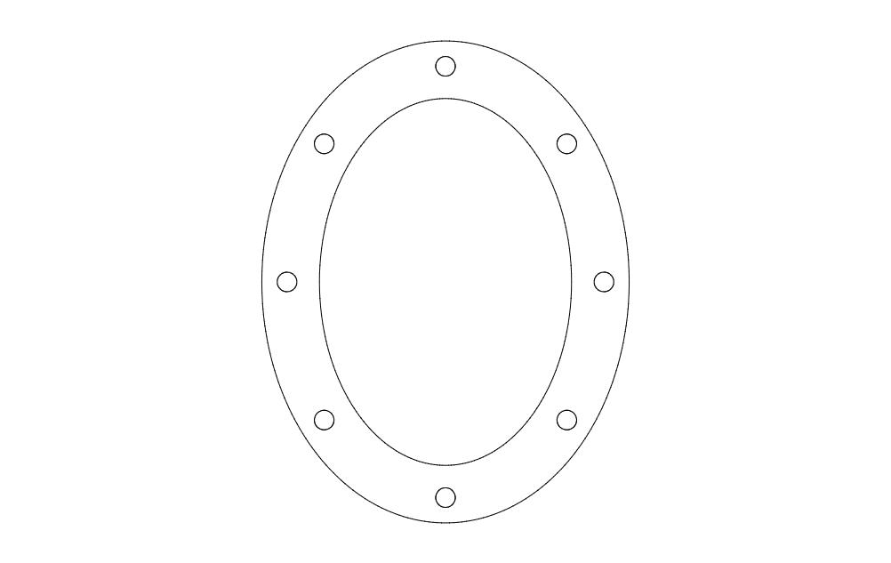 Oval Pattern Free DXF File