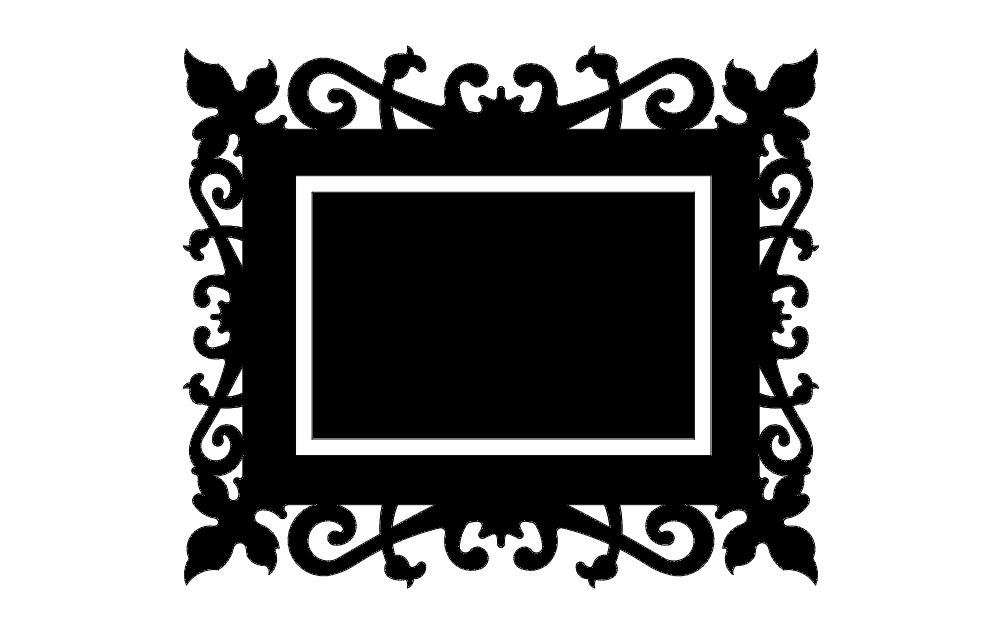 Quadro Trabalhado Free DXF File
