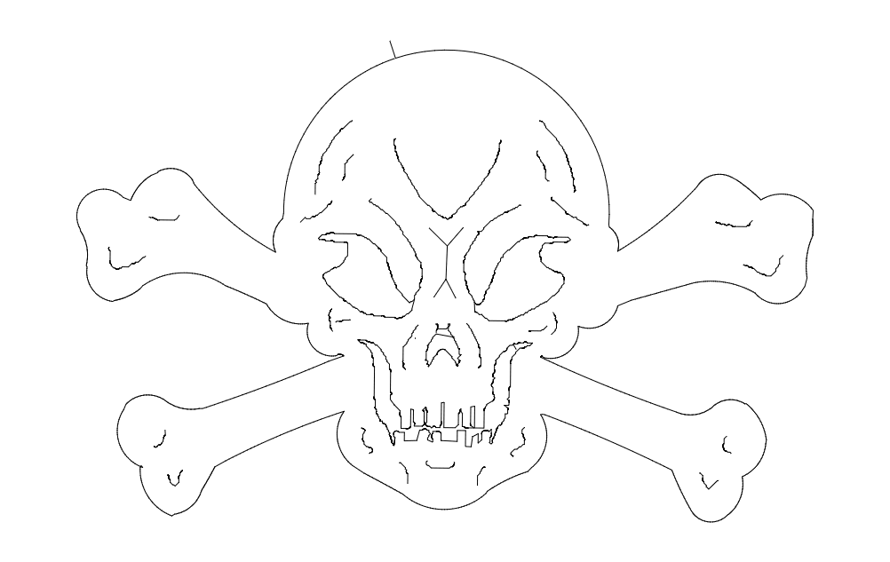 Skull And Crossbones Free DXF File