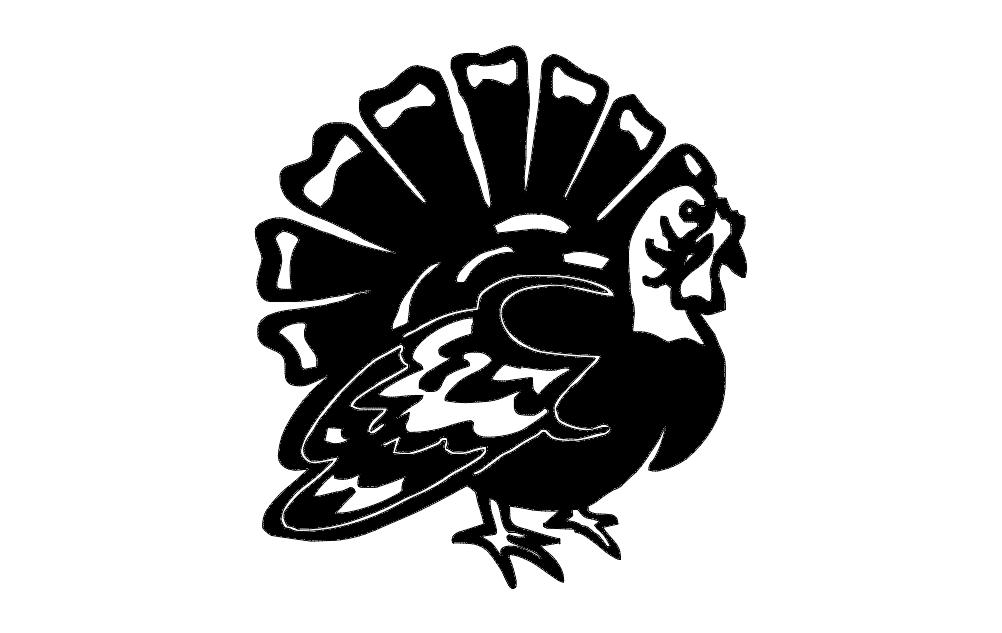 Turkey Free DXF File