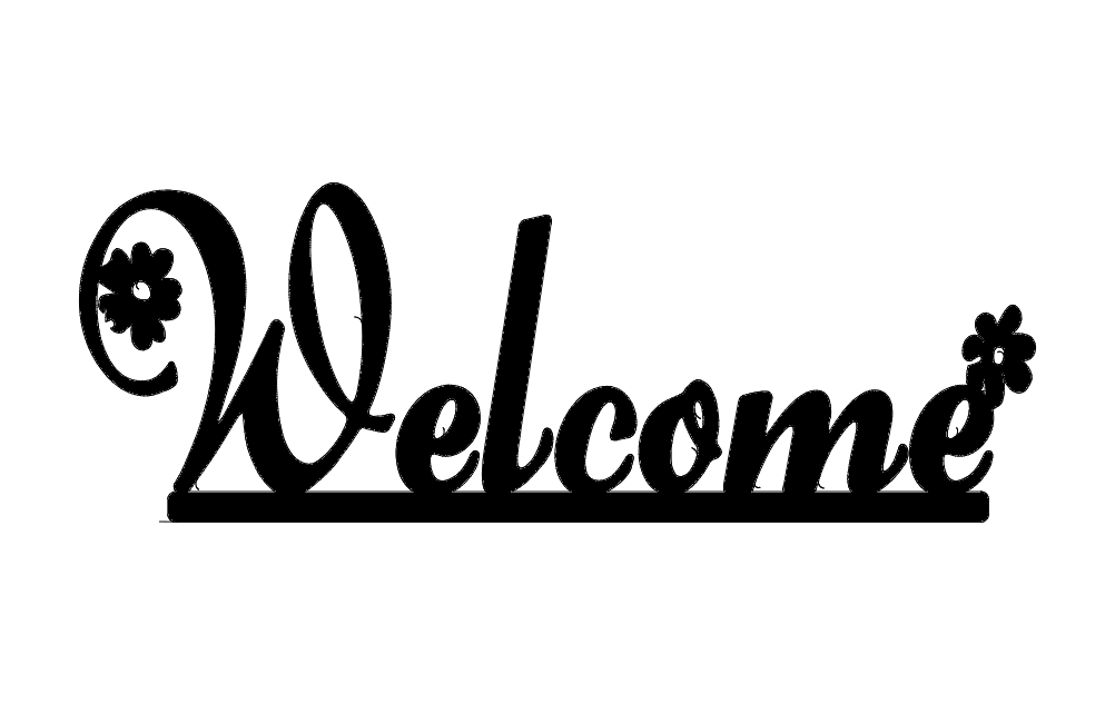 Welcome Daisy Free DXF File
