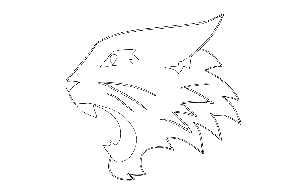 Wild cat Free DXF File