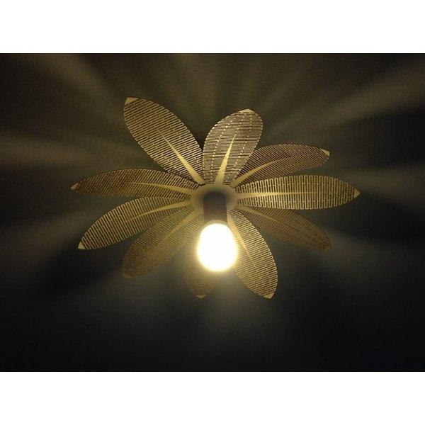 Flower Lamp Laser Cut Top Free DXF File