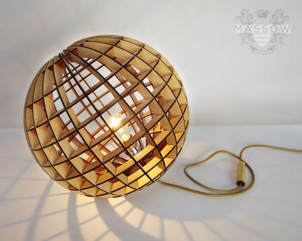 Laser Cut Wood Spherical Lamp Free DXF File