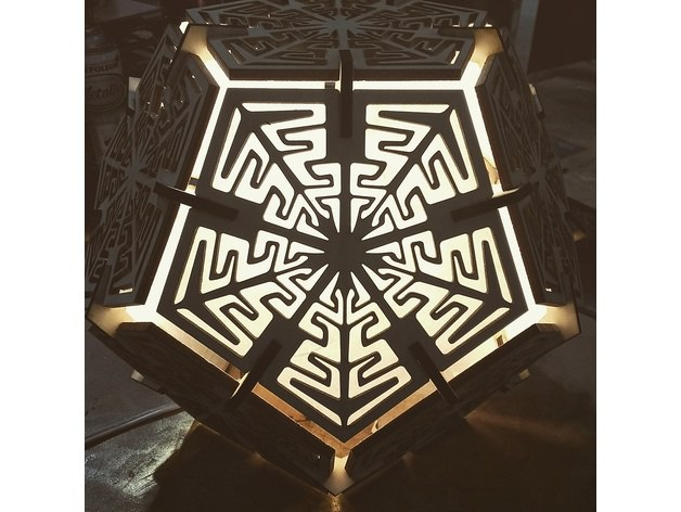 Dodecahedron Lamp 5mm Free CDR Vectors Art