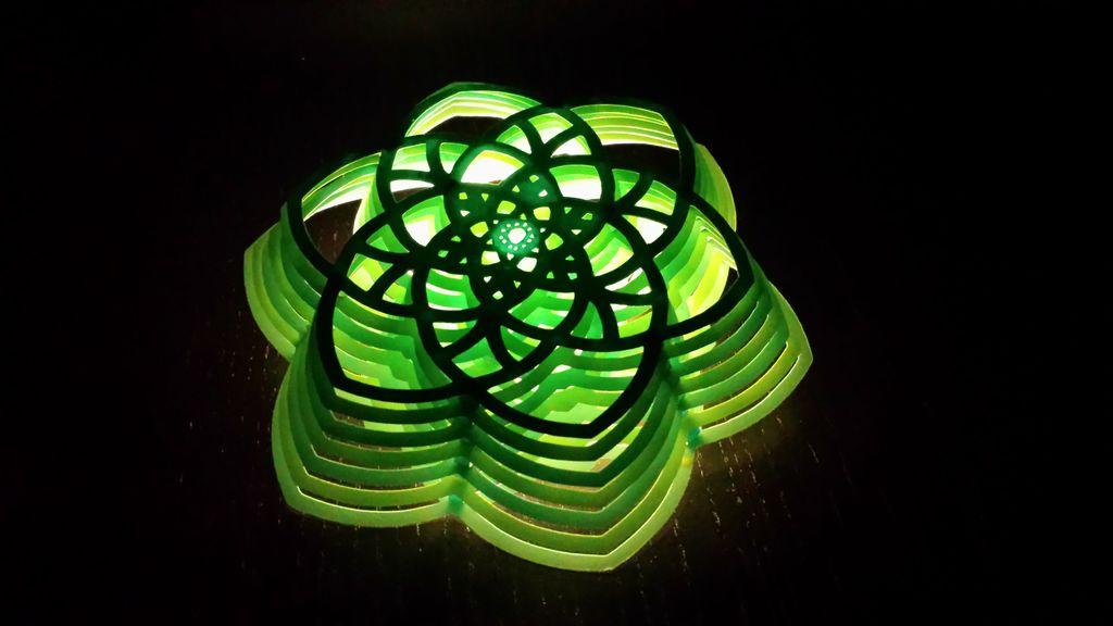 Flower Light 3D Lamp Free CDR Vectors Art