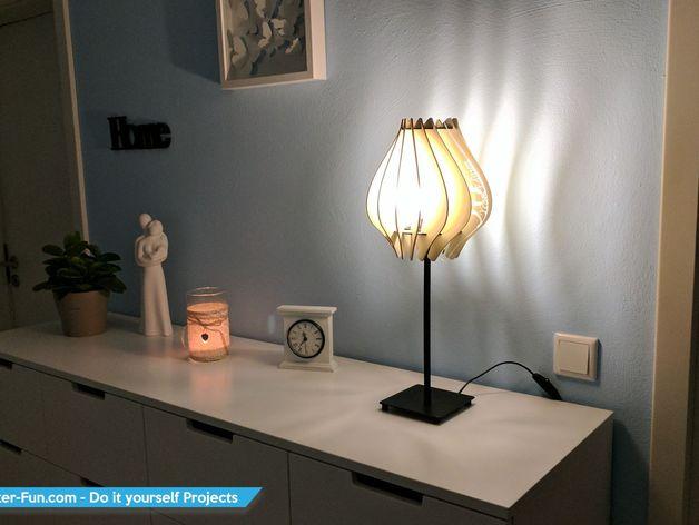 3D Lamp Laser Cutting Free CDR Vectors Art