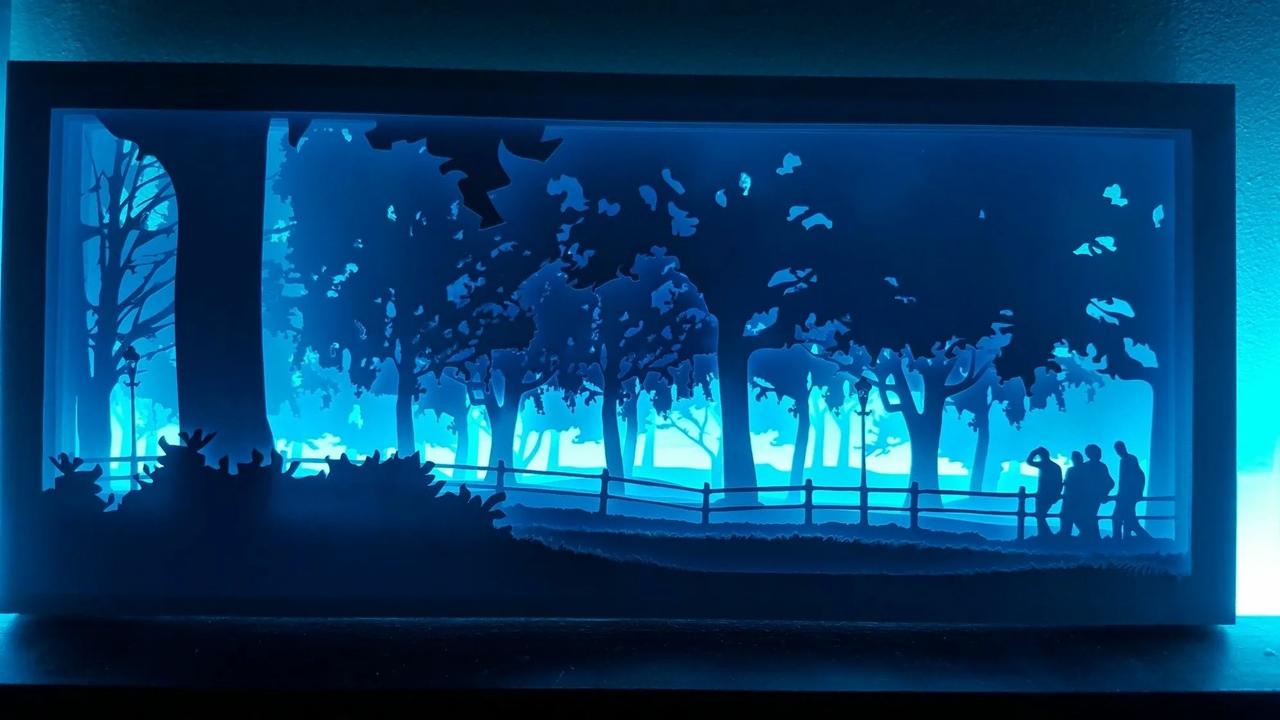 Laser Cut 3d Decorative Night Light Lamp Free CDR Vectors Art