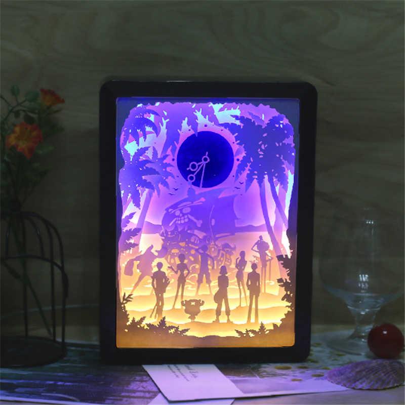 Laser Cut 3d Paper Carving Light Bedroom Led Shadow Lamp Free CDR Vectors Art