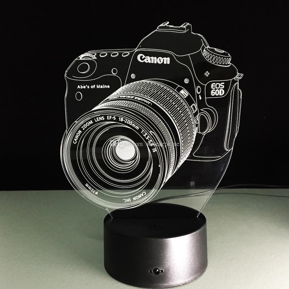 Laser Cut Canon 3d Illusion Optical Lamp Free CDR Vectors Art