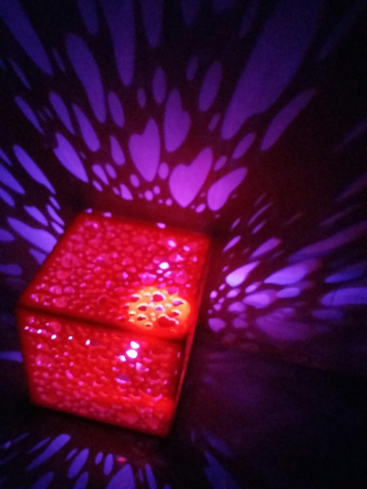 Laser Cut Cube Heart Night Light Lamp Free CDR Vectors Art