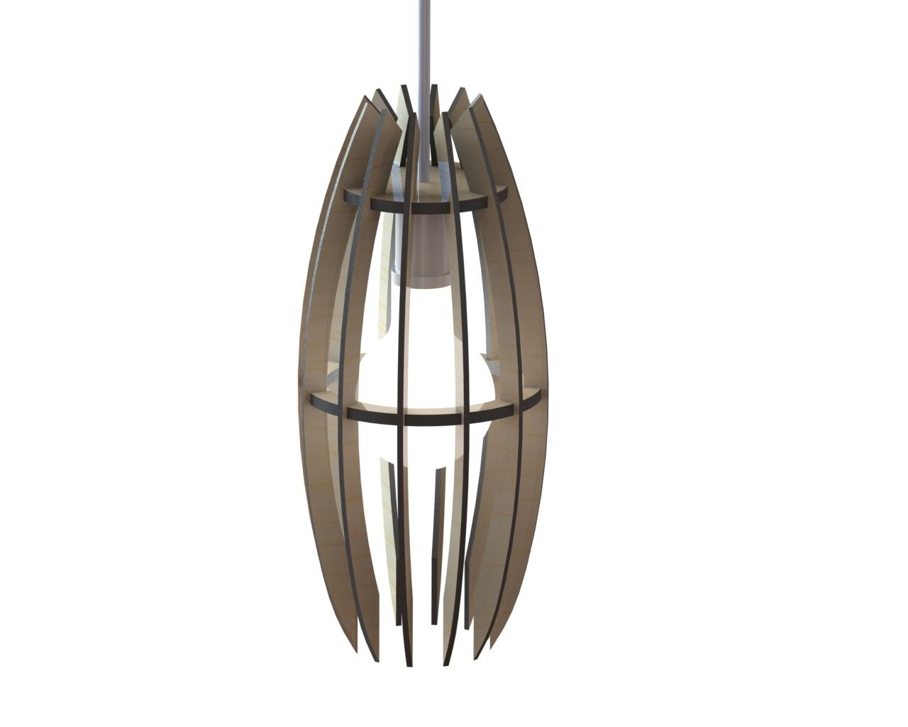 Laser Cut Lamp 13 Template Free CDR Vectors Art