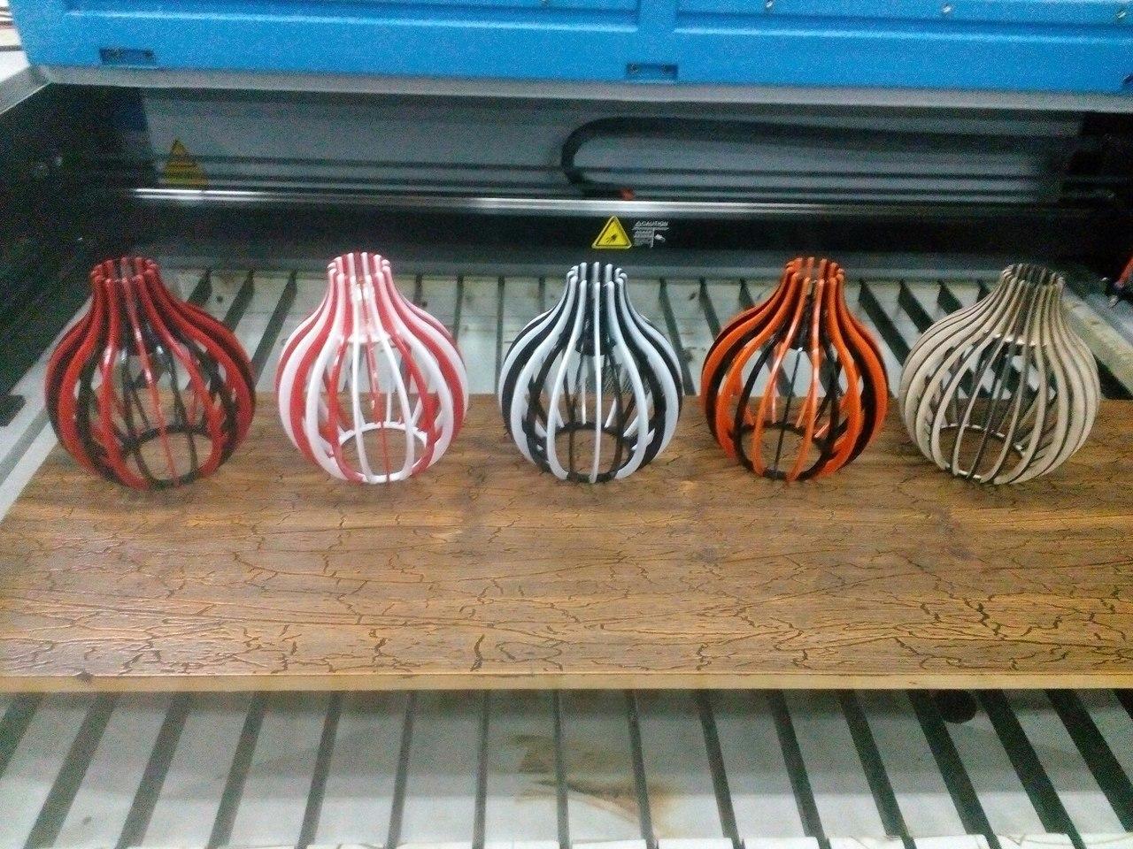 Laser Cut Pear Lamp Free CDR Vectors Art
