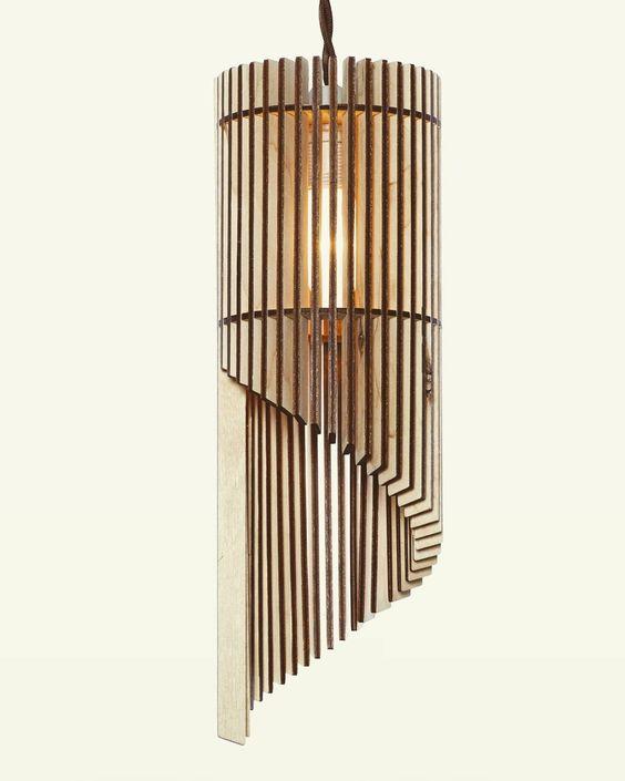 Plywood 3D Lamp Free CDR Vectors Art