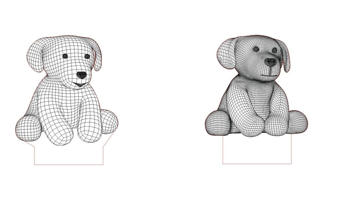Puppies 3d Led Night Light Template Free CDR Vectors Art
