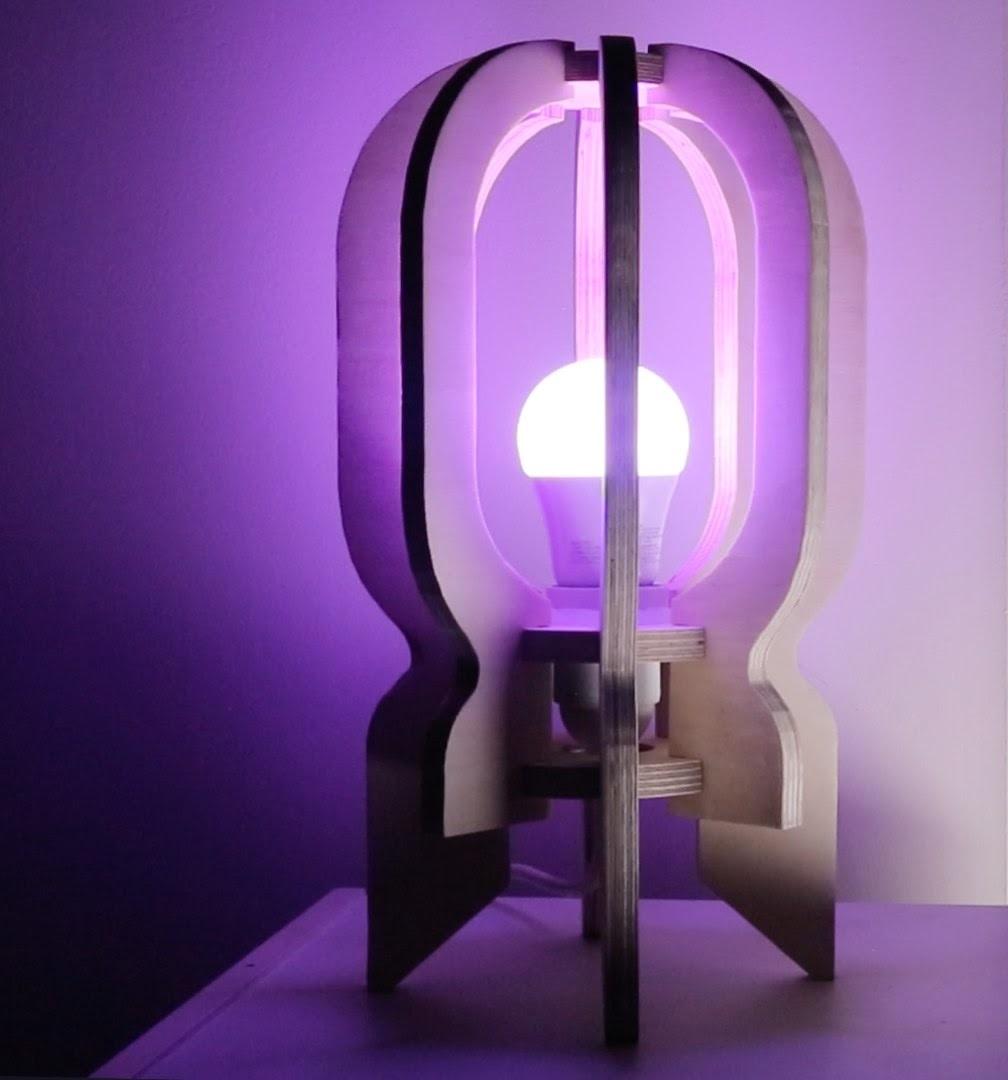 Rocker Lamp Laser Cut Plan Template Free CDR Vectors Art