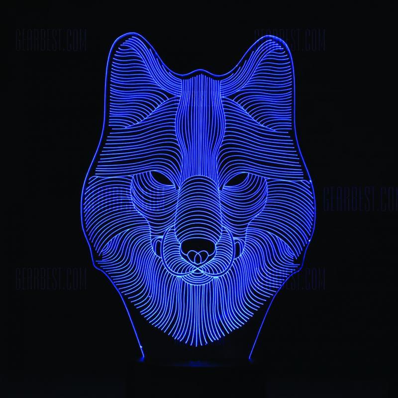 Wolf 3d Led Night Light Template Free CDR Vectors Art