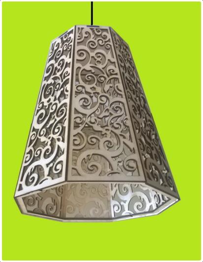 Lamp Siberian Frost Template Free CDR Vectors Art